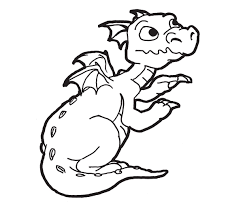 Dragon Coloring Pages Easy Coloring Pages For Kids Dragon