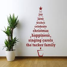 Wall Christmas Trees Personalised Christmas Tree Wall Sticker By Spin Collective