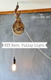 industrial lighting diy. barn pulley light industrial lighting diy