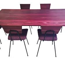 purple heart wood furniture. Purple Heart Wrought Iron Dining Set. Wooden Table Wood Furniture