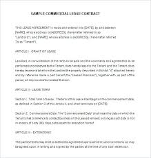 Commercial Lease Contract Template Commercial Lease Agreement ...