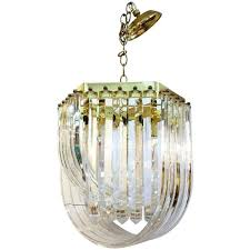 chandelier with lucite ribbons