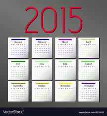 Simple 2015 Calendar Simple 2015 Calendar Calendar Design Royalty Free Vector