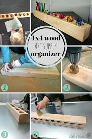 4x4 Wood Crafts How To Make A 4x4 Wood And Rustic Art Supply Organizer Art