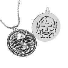 925 sterling silver extremely detailed and artistic skull pendant for men rsp 0387