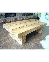 chunky wood coffee table solid oak side table oak large beam coffee table side solid rustic