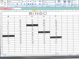 buzzword bingo generator how to make a bingo game in microsoft office excel 2007 9 steps