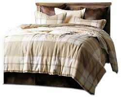 wilson tan plaid comforter set