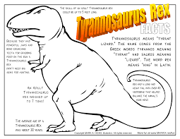 Small Picture Tyrannosaurus Rex Coloring Page