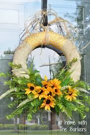 summer wreaths for front doorSummer Sunflower Wreath  At Home With The Barkers