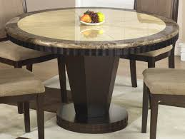 modish marble top round dining table