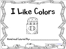 Red Color Activity Sheet Teaching Preschool Pinterest For Books