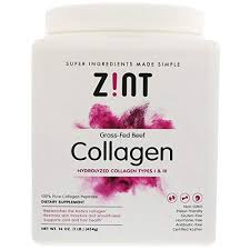 Zint, Grass-Fed Beef Collagen, Hydrolyzed Collagen ... - Amazon.com