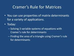 cramer s rule for matrices