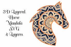 240 × 240 pixels | 480 ×. 3d Layered Horse Head Mandala Svg 4 Layers 767593 Paper Cutting Design Bundles
