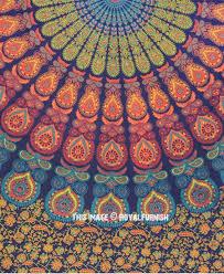 blue yellow hippie medallion mandala