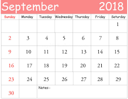 monthly calendar 2018 template september 2018 calendar pdf yearly printable calendar