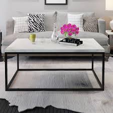 metal design furniture. Gymax Modern Rectangular Cocktail Coffee Table Metal Frame Living Room  Furniture Metal Design Furniture