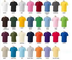 T Shirt Color Chart Jmd Impex