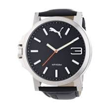 puma watches for men puma men watches for puma watch black stainless steel case leather strap mens nwt warranty pu103461001