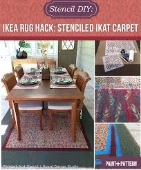 ikea rug turn an inexpensive carpet into a custom oriental rug with an ikat