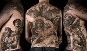 религиозная татуировка на спине татуировки татушка