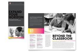 Education Brochure Templates Adult Education Business School Tri Fold Brochure Template