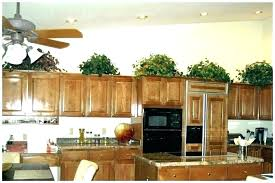 top of kitchen cabinet decor china cabinet decorating ideas medium e of greenery above kitchen cabinets