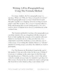 5 Paragraph Essay Examples 5th Grade Mistyhamel