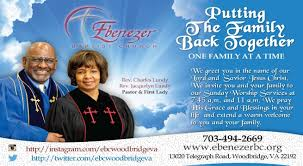 church invitation flyers welcome to ebenezer baptist church home