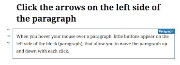 3 Ways To Move Paragraphs In Wordpress Gutenberg Made With