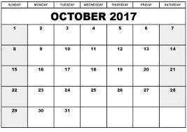 october 2017 printable calendar in pdf excel word free design