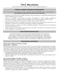 construction manager resume construction manager resume sample