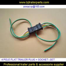 4 pole pin trailer socket flat trailer plug wiring harness kit in 4 pole pin trailer socket flat trailer plug wiring harness kit