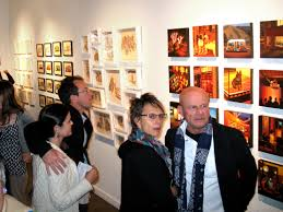 the dynamic local art expressed is truly an exceptional cross section of the sf art scene also the vibe at the gallery events expressed a chic yet
