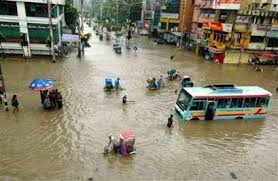 Arambagh  Dhaka  Bangladesh        After a night of heavy rain  Dhaka Marked by Teachers