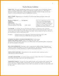 4th Grade Teacher Resume Teacher Resume Objective Example For Best Ideas About Career In Te