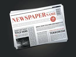 Newspaper Template No Download Download Half Of Newspaper Template With Headline Vector