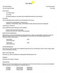Babysitting Resume Template Fascinating Download Our Sample Of Example Babysitting Resume Template Www