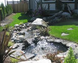 Small Picture Pond with Fountain Landscape Design Dry Creek Beds Pinterest