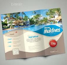Travel Brochure Template 3 Fold Agency Tours Free Margines Info