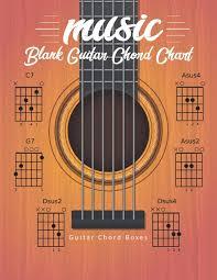 Amazon Com Blank Guitar Chord Chart Manuscript Music Paper