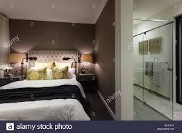 Moderne Schlafzimmer Eines Hauses Oder Hotel Zusätzlich Zu Ein Bad