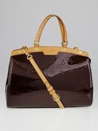 louis vuitton used bags. louis vuitton amarante monogram vernis brea mm bag used bags