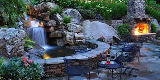 Pond lighting ideas Fish Pond Backyard Waterfall Waterfall Lighting Pond And Waterfall Greenleaf Services Inc Linville Nc Aquascape Inc Pond Lighting Ideas Landscaping Network