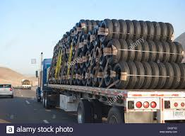 Tire Delivery Truck On Road Stock Photo 62136689 Alamy