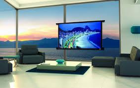 tv projector. projector screens, mirror tv\u0027s \u0026 creative tv mounts modern-home-theatre tv r