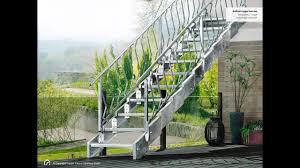 Der aufbau einer solchen treppe ist deutlich höher als einer betontreppe aus blockstufen. Montage Aussentreppe Innotec Beidseitiges Gelander Youtube