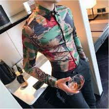 Shop High Quality Korean Shirt Men Fashion <b>2018 New Spring</b> ...