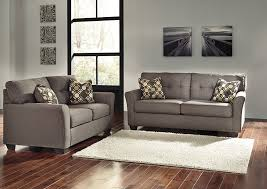 Harlem Furniture Tibbee Slate Sofa and Loveseat
